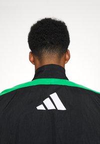 adidas Performance - ZIP - Tuta - black/black/vivgreen - 6