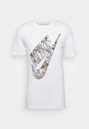 TEE CLUB CAMO - T-shirt con stampa - white/grey fog