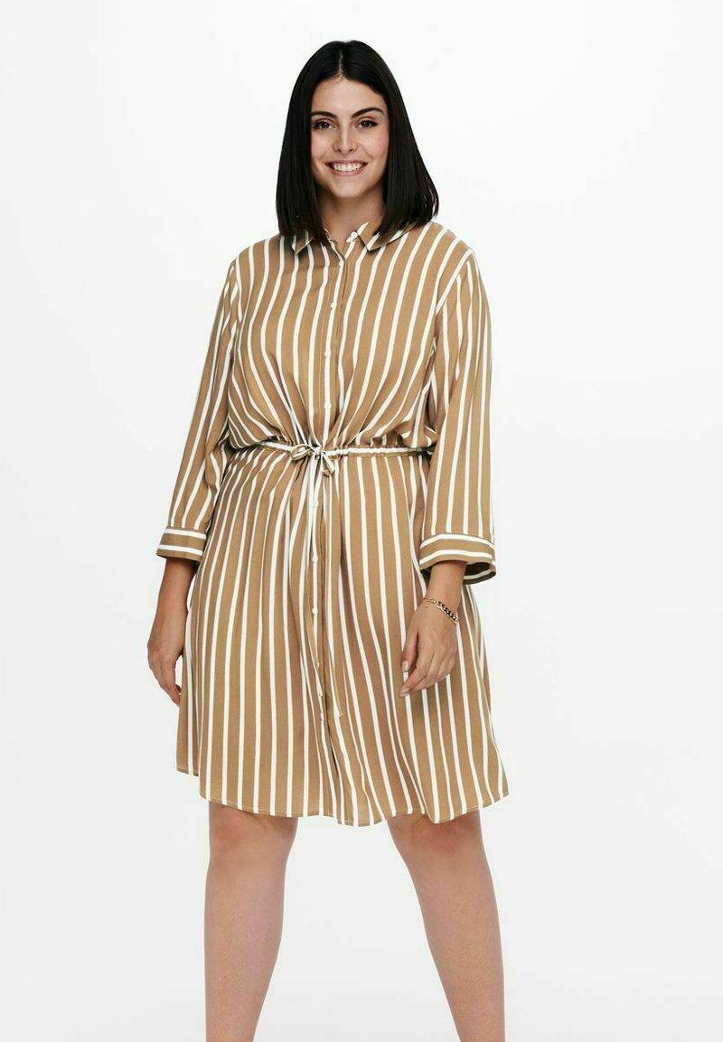 ONLY Carmakoma - Shirt dress - tannin