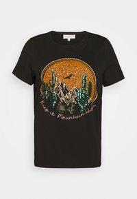 CARVERNON LIFE TEE - Print T-shirt - black