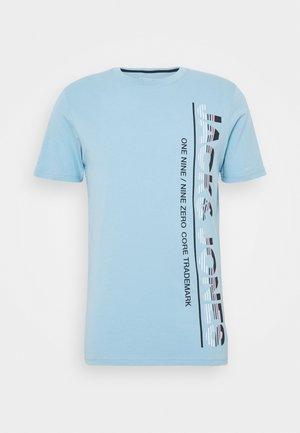 JCOSTRUCTURE TEE CREW NECK - Camiseta estampada - dusk blue