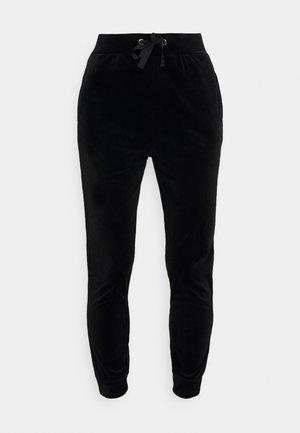 VELVET SLIM FIT JOGGERS - Tracksuit bottoms - black