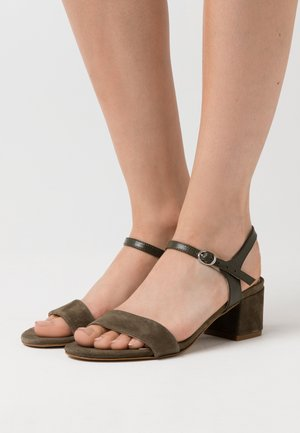 LEATHER - Sandals - green
