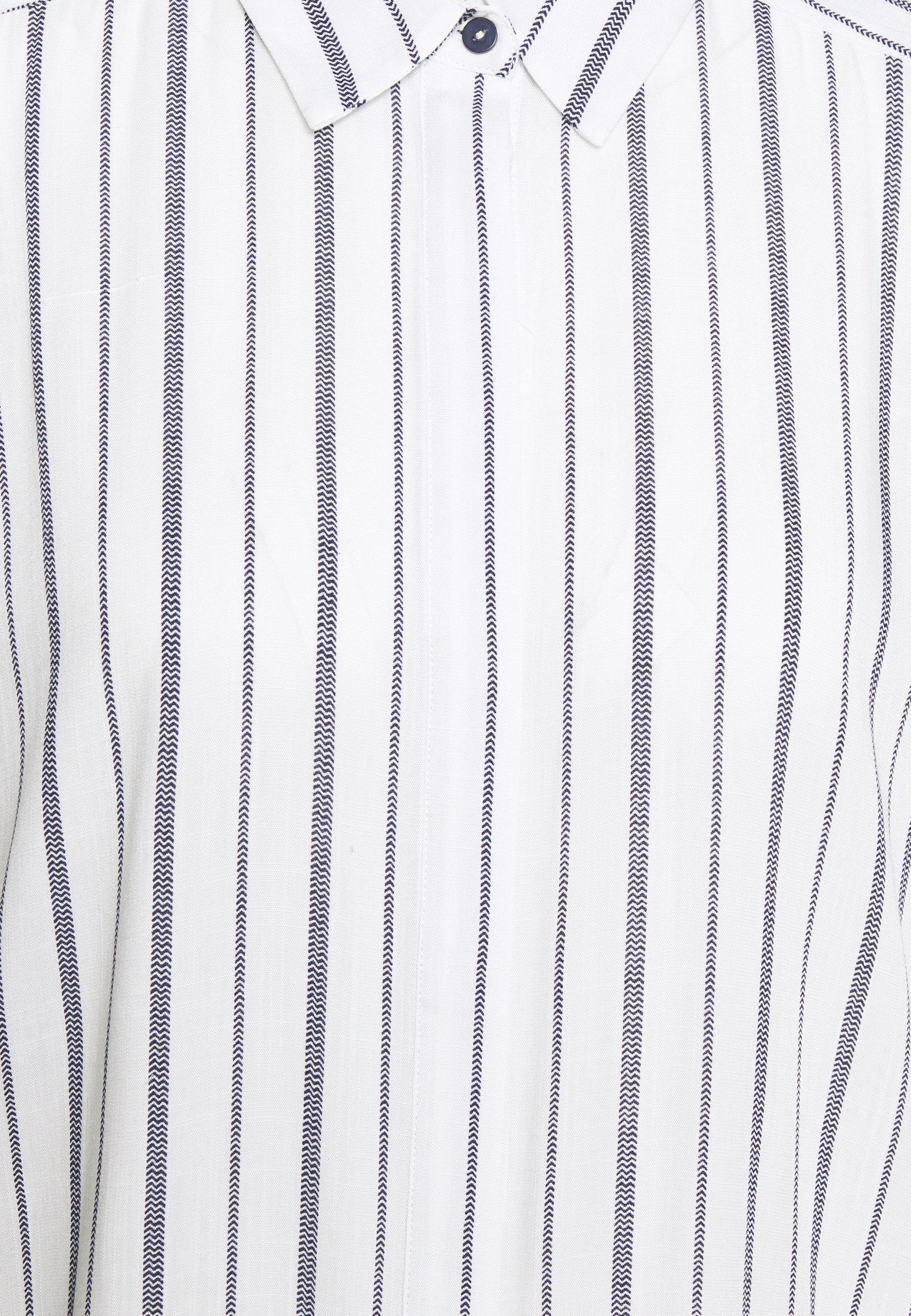 Freequent Skjortekjole - white/navy blazer