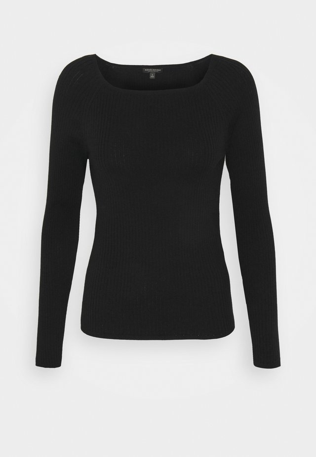 STRETCH BOATNECK - Strikpullover /Striktrøjer - black