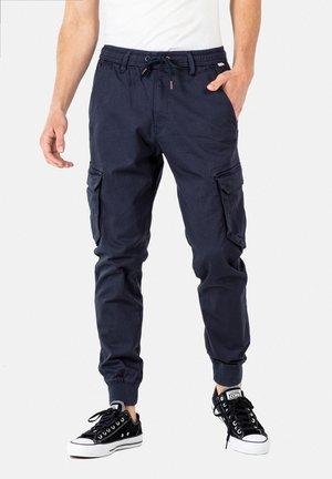 REFLEX RIB CARGO - Cargo trousers - navy