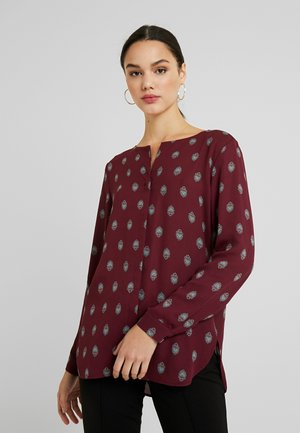 Long sleeved top - tawny port