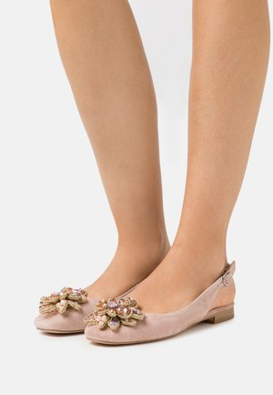 Ankle strap ballet pumps - old pink