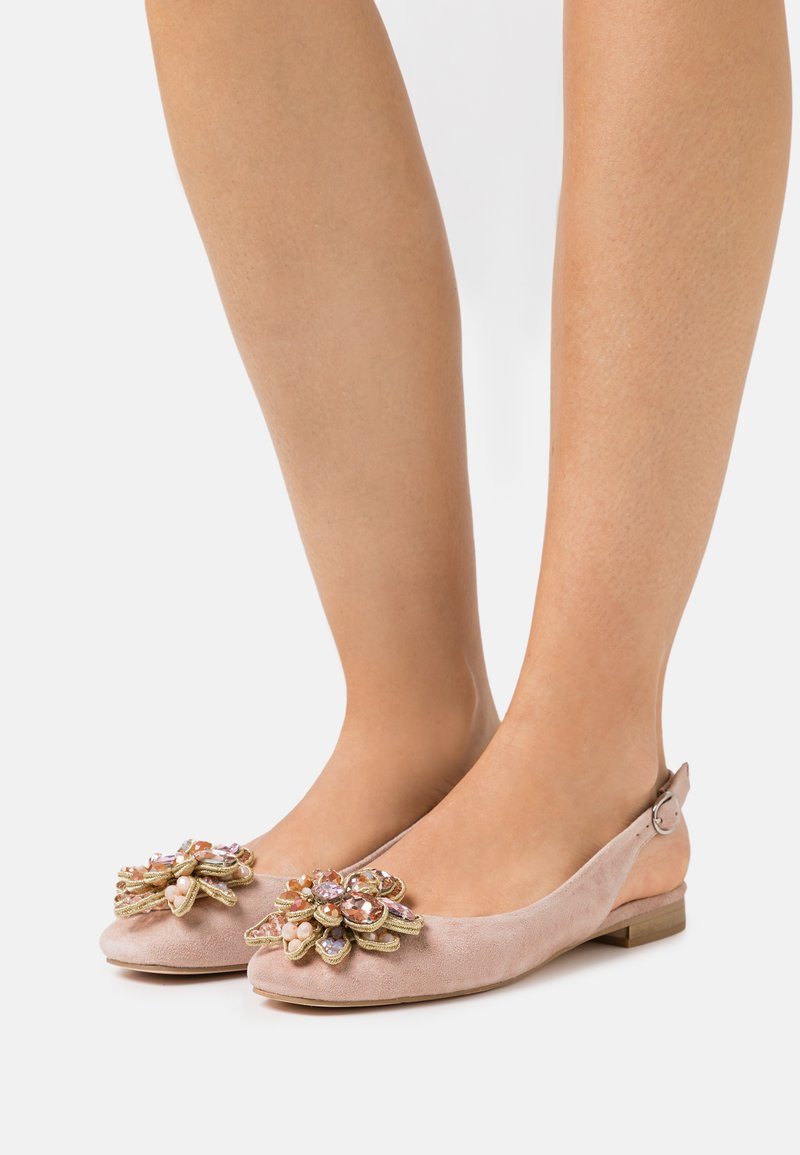 Alma en Pena - Ballerina's met enkelbandjes - old pink