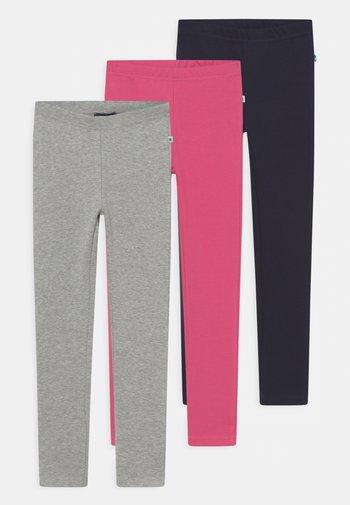 BASICS - Leggings - Hosen - pink/nachtblau/nebel