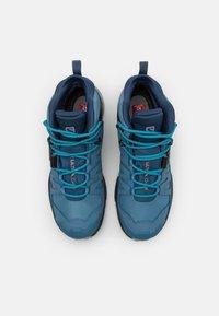 Salomon - X ULTRA 4 MID GTX - Hiking shoes - copen blue/black/dark denim - 3