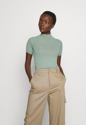 KNIT TOP - Basic T-shirt - dusty green