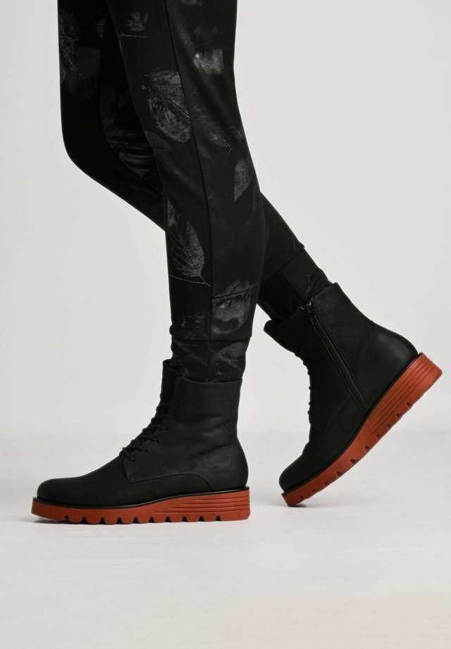 CLAUDIA - Lace-up ankle boots - black