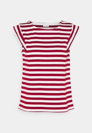 VITINNY CAP SLEEVES  - Print T-shirt - snow white/red dahlia