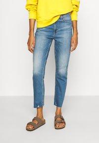 GAP - CIGARETTE KADUNA - Jeans straight leg - dark-blue denim - 0