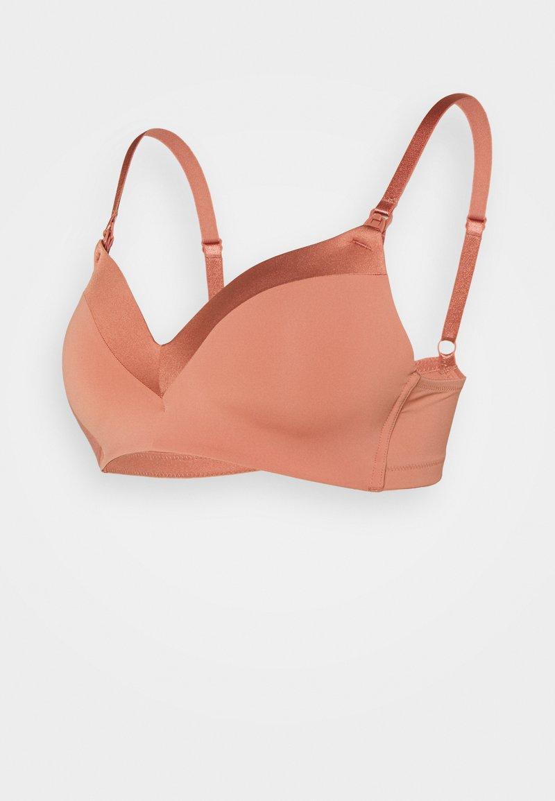 Lindex - NURSING BRA - T-shirt bra - dark dusty pink