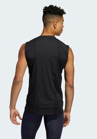 adidas Performance - TURF SL T PRIMEGREEN TECHFIT TRAINING WORKOUT SLEEVELESS T-SHIRT - Sports shirt - black - 1