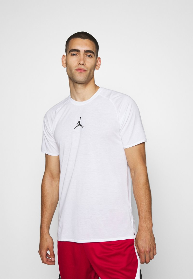 Jordan - AIR - T-shirt imprimé - white/black