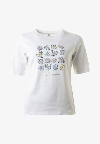 BELLFLOWER - Print T-shirt - white
