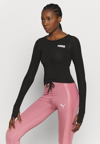 PAMELA REIF X PUMA COLLECTION RUSHING - Sports shirt - puma black