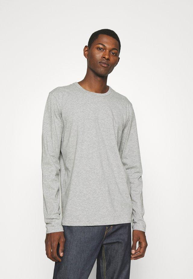 PRINCIPLE BASE TEE - Long sleeved top - mottled grey