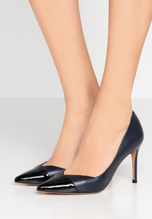 High heels - navy blue/nero