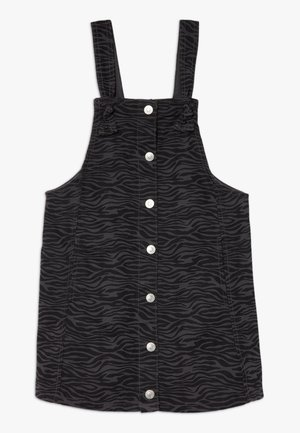 SKIRT DUNGAREE - Farkkumekko - black/grey