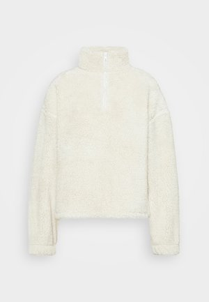 HALF ZIP - Fleecetröja - offwhite turtledove
