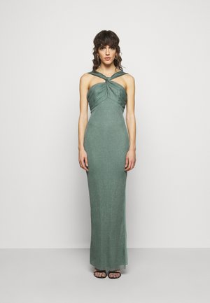 HALTER NECK GOWN - Occasion wear - moss
