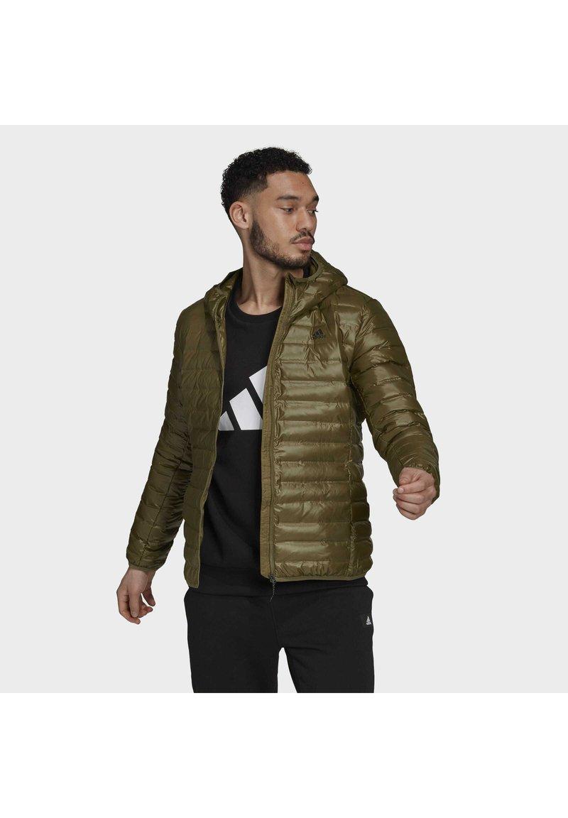 adidas Performance - VARILITE HOODED DOWN JACKET - Winter jacket - focus olive