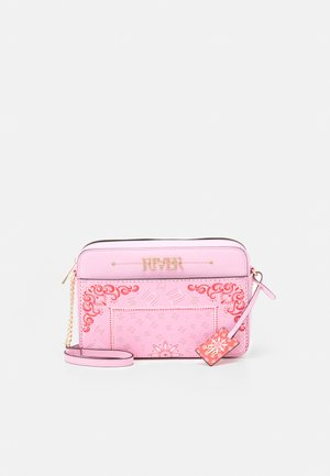 Taška spříčným popruhem - pink bright