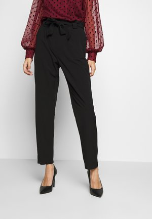 BELT PANT  - Trousers - black