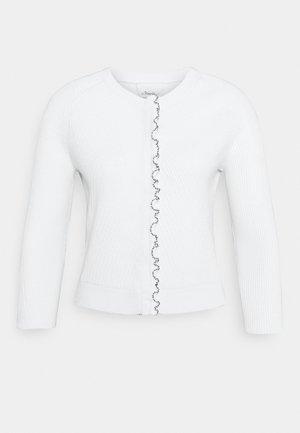 CARDIGAN TULIP - Chaqueta de punto - white