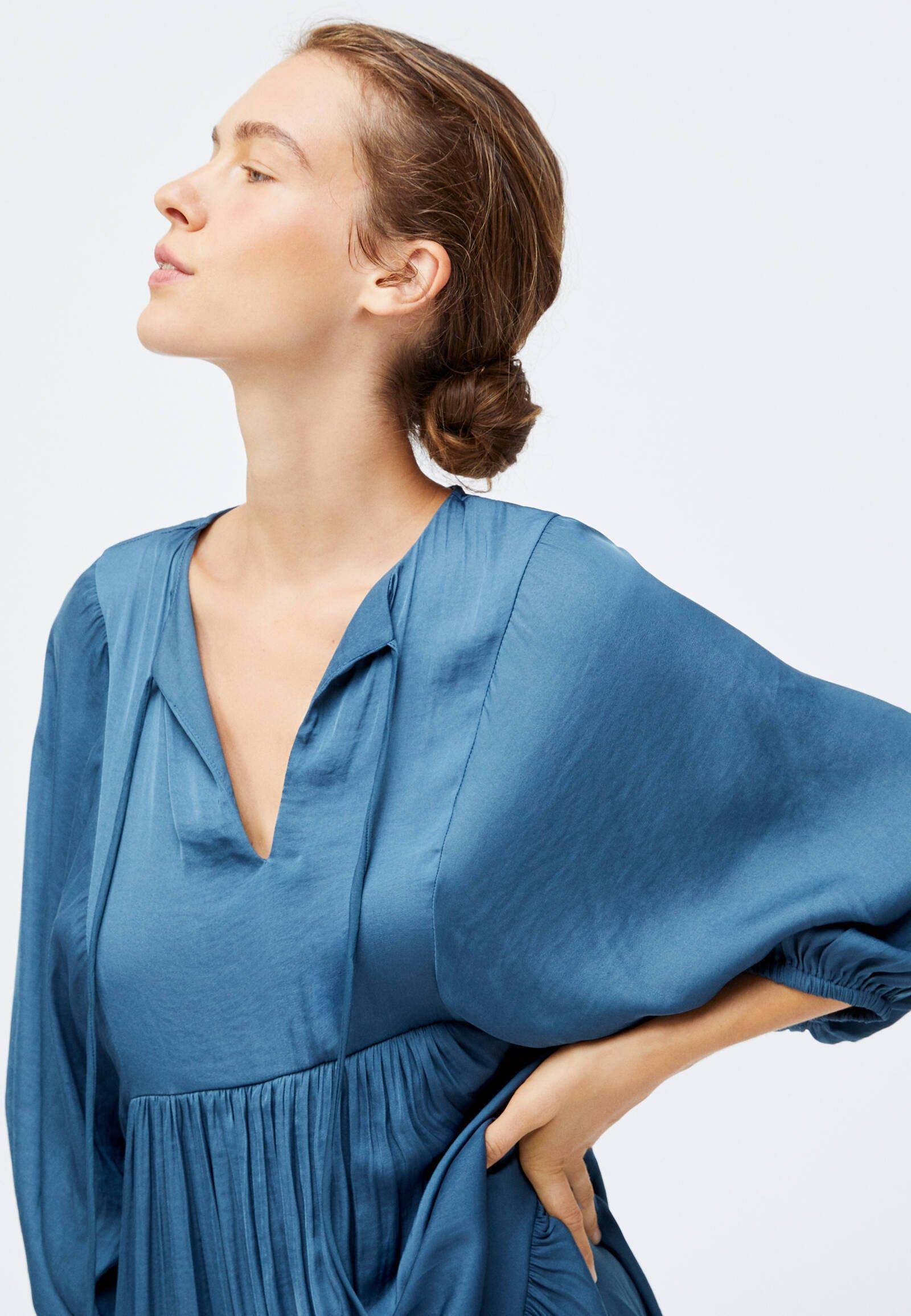 OYSHO Freizeitkleid blue/blau