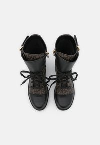 DKNY - BART COMBAT BOOT BUCKLE - Lace-up ankle boots - brown/black - 4
