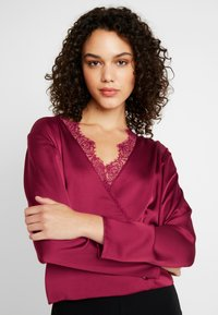 Missguided - WRAP BUTTON - Blouse - burgundy - 3
