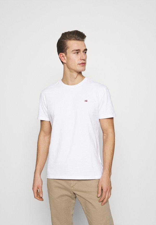 Napapijri SALIS - T-shirt basic - bright white/biały Odzież Męska CXJM