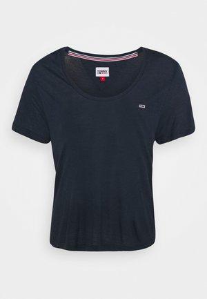 REGULAR SCOOP NECK TEE - T-shirt basique - twilight navy