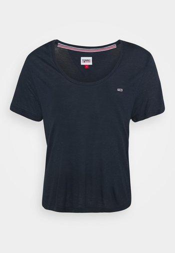 REGULAR SCOOP NECK TEE - T-shirts - twilight navy