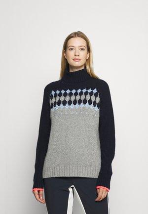 DENALI - Pullover - grey/light blue