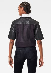 G-Star - GLOSSY JASMAR ROUND SHORT SLEEVE - Sweatshirt - dk black - 1