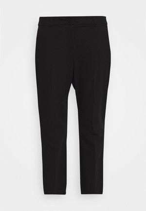 BUTTON TAPERED TROUSER - Kangashousut - black