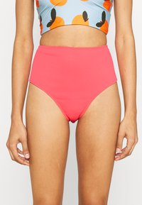 We Are We Wear - TIA REVERSIBLE HIGH WAIST PANT - Bikini bottoms - salmon/rust - 3