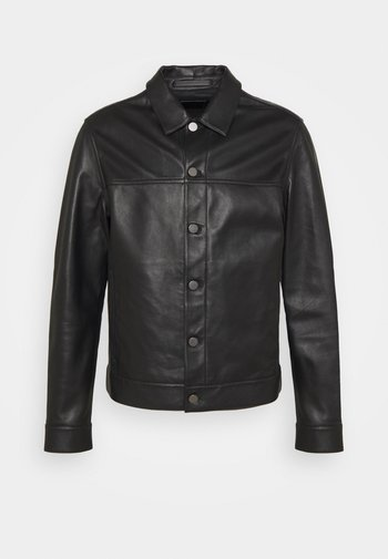 PATTERSON - Veste en cuir - black