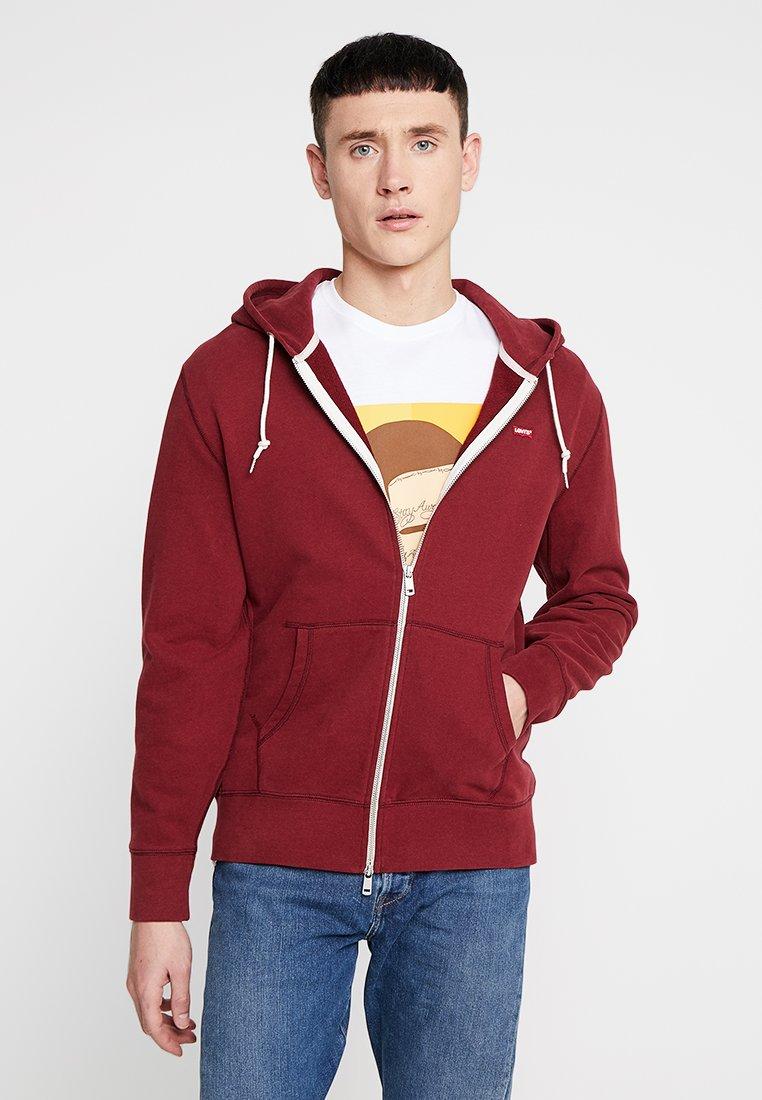 Levi's® - ORIGINAL ZIPUP HOODIE - veste en sweat zippée - warm cabernet