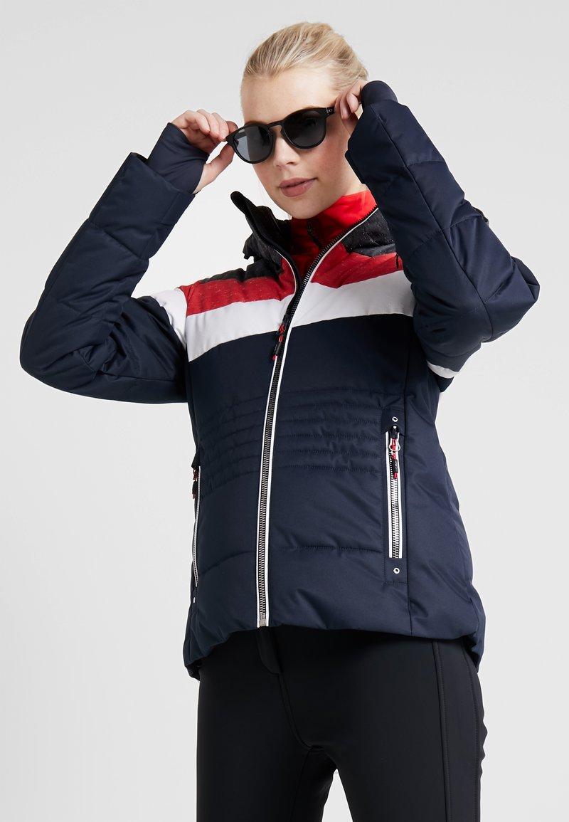 CMP - WOMAN JACKET ZIP HOOD - Kurtka narciarska - black/blue