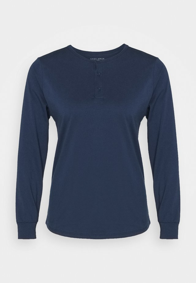 LONG SLEEVE TEE - Top s dlouhým rukávem - steel blue