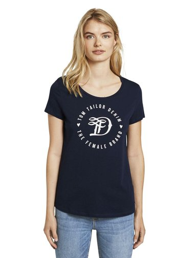 T-shirts med print - real navy blue