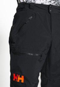 Helly Hansen - SOGN - Spodnie narciarskie - black - 5