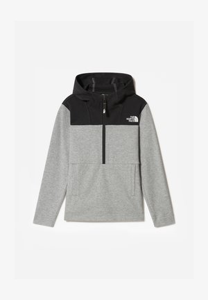 B SLACKER 1/4 ZIP - Sweat à capuche - tnf light grey heather